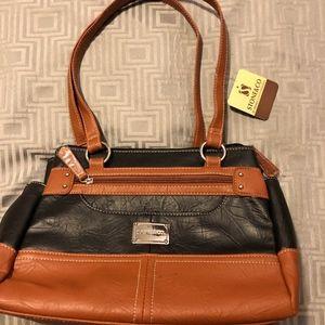 Stone & Co. Black on brown purse